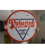 Vintage Sign Standard Polarine Oil Double Sided... - $1,464.70