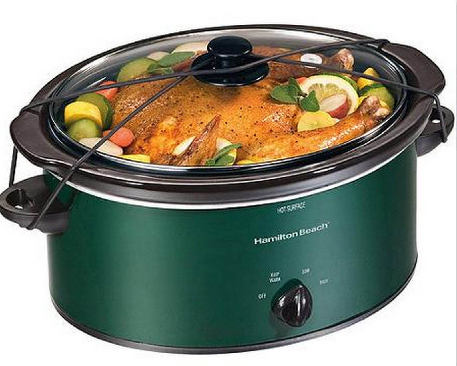 Hamilton beach green 5 quart slow cooker crock pot with for Hamilton beach pioneer woman slow cooker