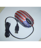 Red White Blue Flag Crystals USB Optical Comput... - $9.00