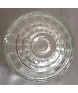 Pressed Glass Candle Holder Graduated Single Hole - $9.99