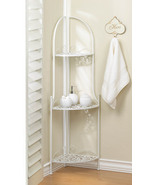 Corner Shelf White Iron - $50.00