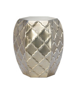 Quatrefoil Design Metal Stool - $67.00