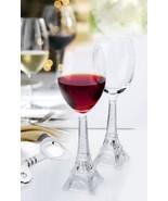 Vintage Eiffel Tower Flute Wine Glass Kitchen A... - $39.26