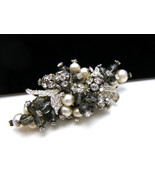 Vintage Wired Bead Brooch Rose Montee Rhineston... - $107.80