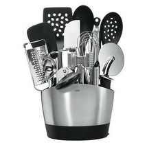 NEW Stainless Steel 15 Pc Kitchen Tool Set w/ H... - $126.62