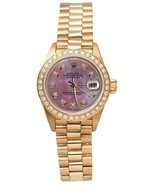 Rolex president style mother of pearl diamond d... - $5,983.56