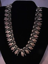 LISNER VINTAGE COLLAR NECKLACE BRANCHES AND LEA... - $34.65