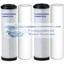 Fountainhead Replacement Filters 2 Bone Char Fluoride/Arsenic Carbon 2 Sediment - $43.26