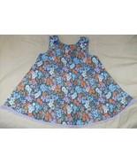 Toddler blue floral sundress 2 3 2T 3T handcraf... - $7.00
