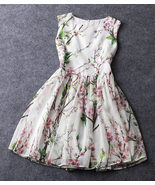 Cherry Blossom White And Pink Organza Tea Dress... - $89.90 - $89.90