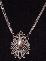 Large LISNER Necklace on double chains Signed o... - $35.59