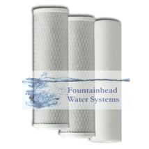 Fountainhead 1 Sediment 2 Carbon Block Filter Set Reverse Osmosis Filter Systems - $24.72