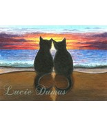 ACEO art print Cat #340 fantasy by Lucie Dumas - $4.99