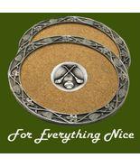 Hurling Themed Cork Wine Stylish Pewter Edge Co... - $30.00