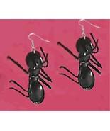 Huge Funky GIANT ANT EARRINGS Picnic Bug Summer... - $6.99