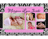 Buy 20 x 4x6 DAMASK Boy Girl Baby Birth Announcement 50 + DESIGN