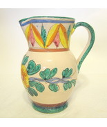 Small Italian Pottery Pitcher Earthenware Signe... - $44.54