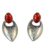 Vintage Southwest Style Clip On Earrings Faux C... - $15.00