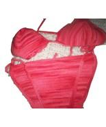 Hand Crocheted Handmade Red Bikini Summer  Size... - $42.50