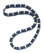 Hawaiian Style Coconut Wood Beads Blue Black Wh... - $8.90