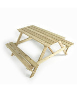 Wooden Picnic Table FSC Garden Kids Dining Pati... - $144.74