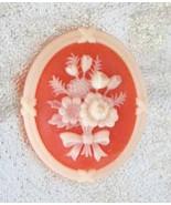 Elegant Avon Victorian Style Cameo Flower Brooch  - $12.95
