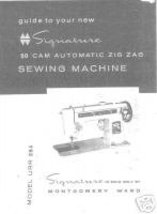 PRINTED Montgomery Ward 1284 sewing machine manual (smm032