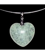 Heart Pendant Necklace Lemon Lime Khaki Silver... - $19.99