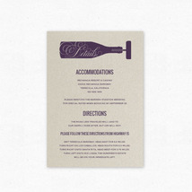 Vineyard Vows Insert Cards - Pair with Vineyard Vows Wedding Invitation