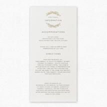 Wood Grain Insert Cards - Pair with Wood Grain Wedding Invitation