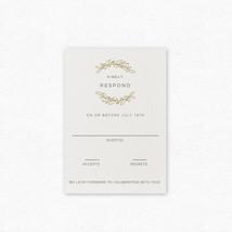 Wood Grain Response Cards - Pair with Wood Grain Wedding Invitation