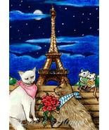 ACEO art print Cat #256 mouse fantasy by Lucie ... - $4.99