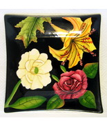 Small Decorator Plate Floral Motif Pacific Rim ... - $44.54