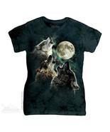 The Mountain T-Shirt Three Wolf Moon Classic La... - $22.54 - $23.64