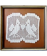 crocheted Peace Symbol Oma s Doves with Heart  ... - $22.00