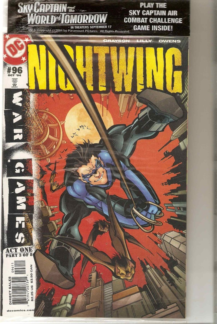 Nightwing issue 96 War Games part 3 Batman SEALED + DVD Grayson Lilly Owens