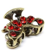 New Hair Mini Jaw Clamp Red Crystal Barrette Me... - $7.89