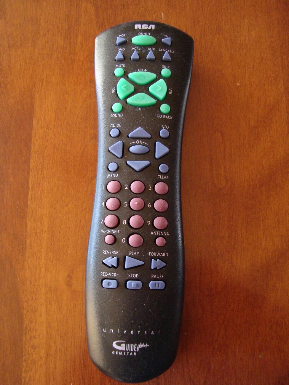 Rca remote control guide