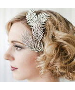 Bohemian Crystal Feathers Bridal Hair Clip. Spa... - $42.90