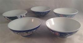 Japanese Bowls, Five bowls Five designs - $12.99