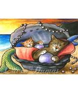 ACEO art print Cat Mermaid #20 by L. Dumas - $4.99