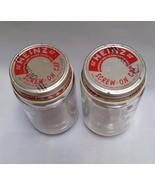 Vintage Baby Food Jars Heinz Glass Empty Lids C... - $12.99