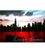 ACEO art print Landscape New-York City by L. Dumas - $4.99