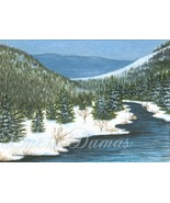 ACEO art print Landscape #70 winter by L.Dumas - $4.99