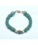 3 Strand Green Jade Freshwater Pearls Bracelet  7