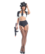 Be Wicked Jazzy Gangster Mobster Gun Moll Hallo... - $57.00 - $65.00