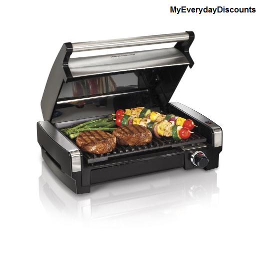 Countertop Grill : Grill Searing Hamilton Beach Nonstick Countertop Kitchen Indoor Meat ...