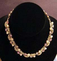 Stunning Lisner Faux Pearl and AB Rhinestones N... - $67.87