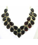 Table-Top Faceted Red Garnet with Green Topaz S... - $273.29