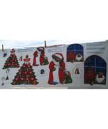 Jingle Bell Bear Christmas Appliques, Cotton Fa... - $3.94